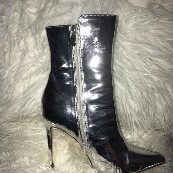 Windsor Shoes - Metallic heel booties